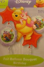 WINNIE THE POOH FOIL BALLOON BOUQUET BIRTHDAY (5 Balloons)