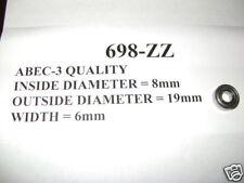 2 NEW 698-ZZ PREMIUM ABEC-3 QUALITY BEARINGS 8x19x6 mm