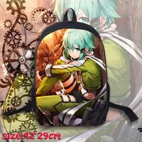 Anime Sword Art Online Sinon Backpack Rucksack Knapsack School Bag Student Bag
