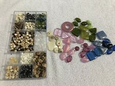 JEWELLERY MAKING SET - VARIOUS COLOURED GEMS - NEW - PINK GREEN BLUE WHITE BOOK