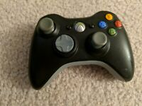 Official Microsoft Xbox 360 BLACK Wireless Controller Genuine  OEM FREE SHIPPING