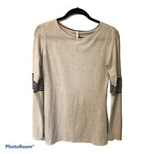 Lululemon long sleeve heathered gray top striped