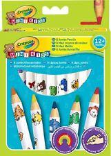 Crayola Mini Kids Beginnings - Jumbo Decorated Pencils 8pcs Pack Brand New