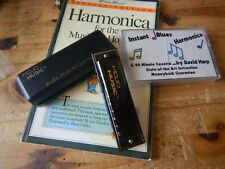 Mojo Music Harmonica plus Songbook and cassette tape-MINT! Never used!