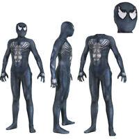 Venom Symbiote Spider-Man Jumpsuit Halloween Cosplay Costume Spandex Zentai Suit