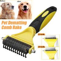 Professional Pet Grooming Undercoat Rake Comb Dematting Tool Cat Dog Brush  G