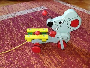 Ziehtier Maus mit Xylophon , süßes Spielzeug