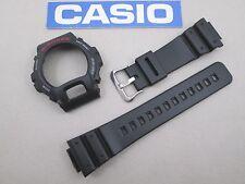 Genuine Casio G-Shock DW6600 DW6900 black resin watch band bezel steel buckle