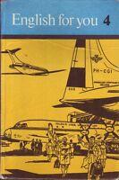 DDR Lehrbuch English for You 4/Verlag Volk und Wissen Berlin 1979/Klasse 10