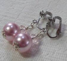OHRCLIPS  CLIPS PERLE 12 mm ROSA KRISTALL