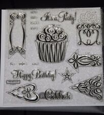Close to My Heart Acrylic Stamps D1497 HAPPY BIRTHDAY~SET of 16, BRAND NEW