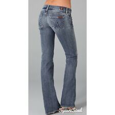 7 For All Mankind Size 32 Women's A-Pocket Blue Jeans Back Pocket Bling