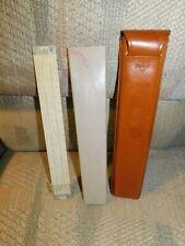 Pickett Slide Rule In Marbled Case (Bakelite?) Inside Leather Holder W/Ring