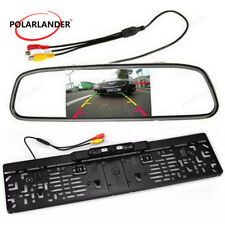 "Parking Backup Cam 4,3"" TF LCD Rear View Mirror Wireless Kit Moniteur de voiture"