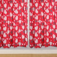 Hearts Bedroom Children's Curtains