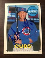 Nelson Velazquez Signed 2018 Topps Heritage Minors Autographed Auto Chicago Cubs