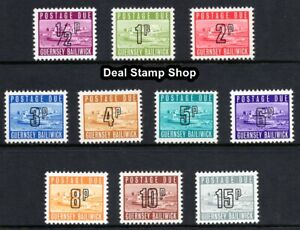 GB 1971 - 1976 Guernsey Postage Due SG8 - SG17 Complete Set of 10 Unmounted Mint