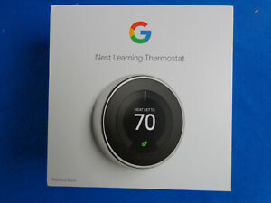 Google Nest Learning Thermostat 3rd Gen Smart Thermostat T3019US D2