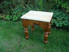 Solid Pine Dressing Table Stool With Chunky Turned Legs Bedroom Furniture