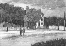 "SNARESBROOK. The ""Eagle""  pub. London 1888 old antique vintage print picture"