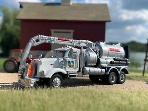 HO 1/87 Custom RPS Boley Herpa Peterbilt 357 Vacuum Truck Sewage Hydro Rental