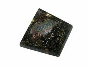 Jet Exquisite A++ Black Tourmaline Flower of Life Chakra Orgone Pyramid