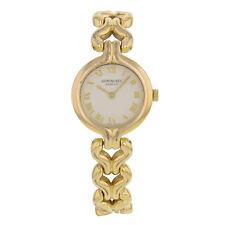 Raymond Weil 5878 Oro Plateado De Acero Inoxidable Cuarzo Reloj de mujer