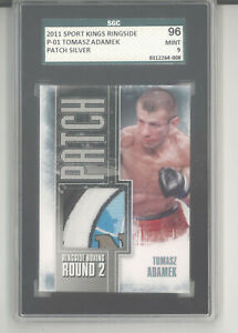 Tomasz Adamek trunks patch card 2011 Sportkings Ringside Boxing SGC 96 Mint