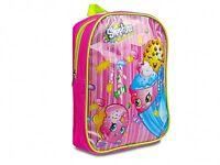 Shopkins 'Pink' Pvc Front School Bag Rucksack Backpack Brand New Gift