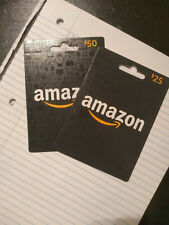 Brand New Unused Activated Amazon Gift Card $75 Amazon Prime