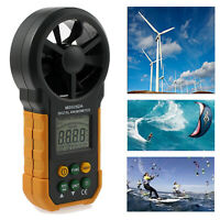 Digital Anemometer Air Flow Meter LCD Wind Speed Gauge Handheld Measure Tool US