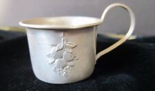 Antique Sterling Silver Webster Co. Fruits Baby  Cup with Gold wash Inside c1900
