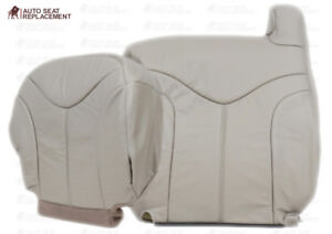 2000 2001 2002 GMC Yukon Driver Back and Bottom Vinyl Seat Cover Light Tan