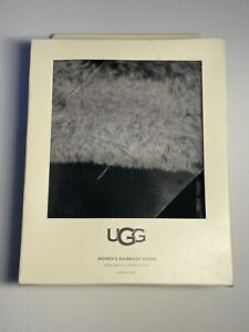 UGG® Faux Fur Short Rainboot Socks Black Charcoal NIB
