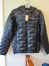 Mens New Patagonia Micro Puff Hoody Jacket Size Medium Color Black
