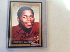 Herschel Walker Georgia  running back AUTOGRAPHED official Heisman Card