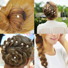 Silver Wedding Diamante Crystal Hair Pearl Flower Twists Swirls Pins Spira Hot