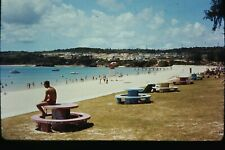 Org Photo Slide 1960's Vietnam war military Base soldier Beach scene shore coast