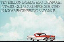 1972 Chevy IMPALA Mini-Brochure with 1958: London Bridge