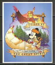 Guyana #3097, 1996 Guided by The Great Spirit-Walt Disney's Mickey Mouse, SS1 NH
