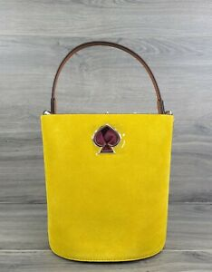 Kate Spade Tote Suede Small Suzy Bucket Bag (Soleil Yellow)