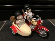 Sylvanian Calico Critters Motorcycle Sidecar W/ Mulburry Racoons