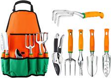 Garden Tool Set, 12 Piece Aluminum Hand Tool Kit, Garden Canvas with Apron