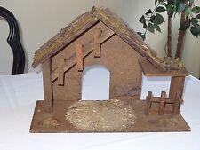 Vintage Christmas Nativity Wood Wooden Manger Stable Barn Creche Fontanini?