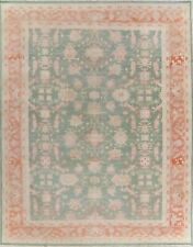 10'x13' Muted Green All-Over Oushak Egyptian Oriental Area Rug Wool Hand-Knotted