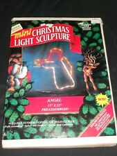 "Mr. Christmas 1993 Mini Christmas Light Sculpture Angel 17"" x 23"" Rope Light"