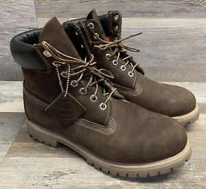 Timberland Men's Brown 6 inch Premium Waterproof Boots US Size 10 M