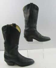 Ladies Dan Post Black Leather Cowgirl Boots Size: 6 M