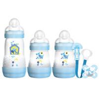 MAM NewBorn Baby Boy Bottle Starter Set Baby Feeding Essentials - Blue