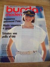MAGAZINE BURDA MODEN  MODE VACANCES A GOGO   06/1984